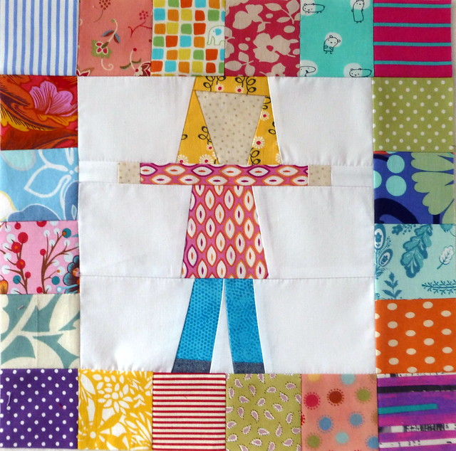 Pippi Longstocking Block for Bee Blessed Feb14