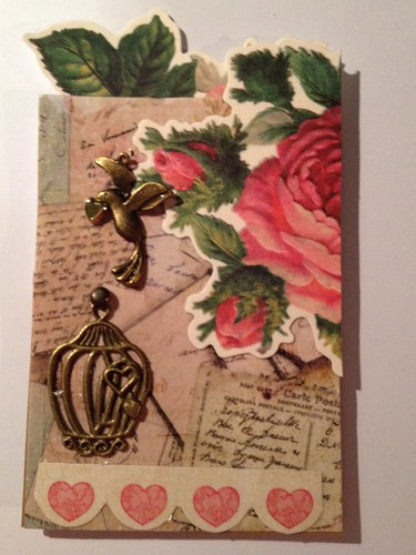 Vintage ATC with a bird by beemgee1