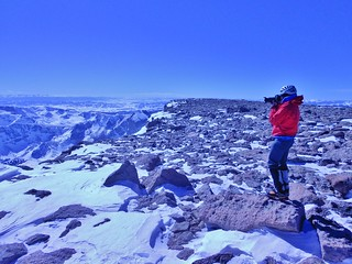 Slava Taking a Photo on Longs Peak
