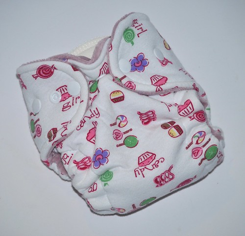 Bumstoppers Newborn Hybrid Fitted Candy Girl