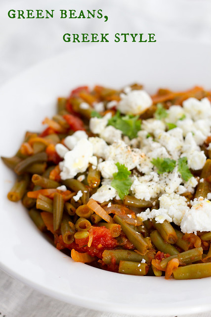 Green beans, Greek style