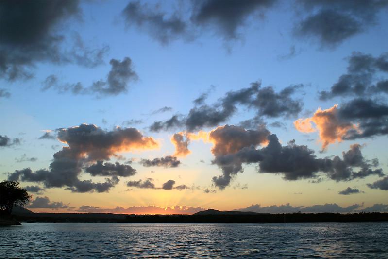 coucher de soleil à noosa