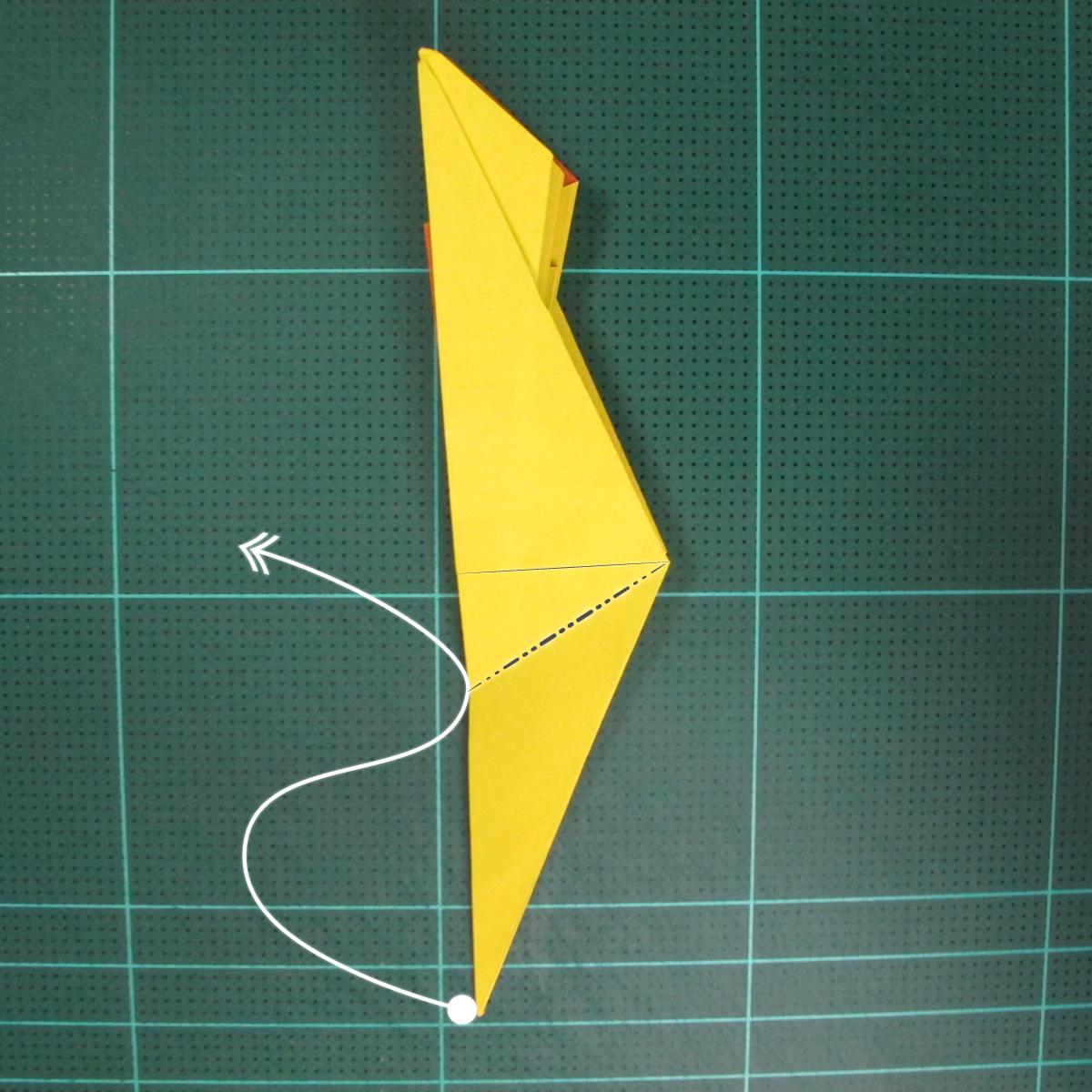 วิธีพับกระดาษเป็นรูปนกยูง (Origami Peacock - ピーコックの折り紙) 024