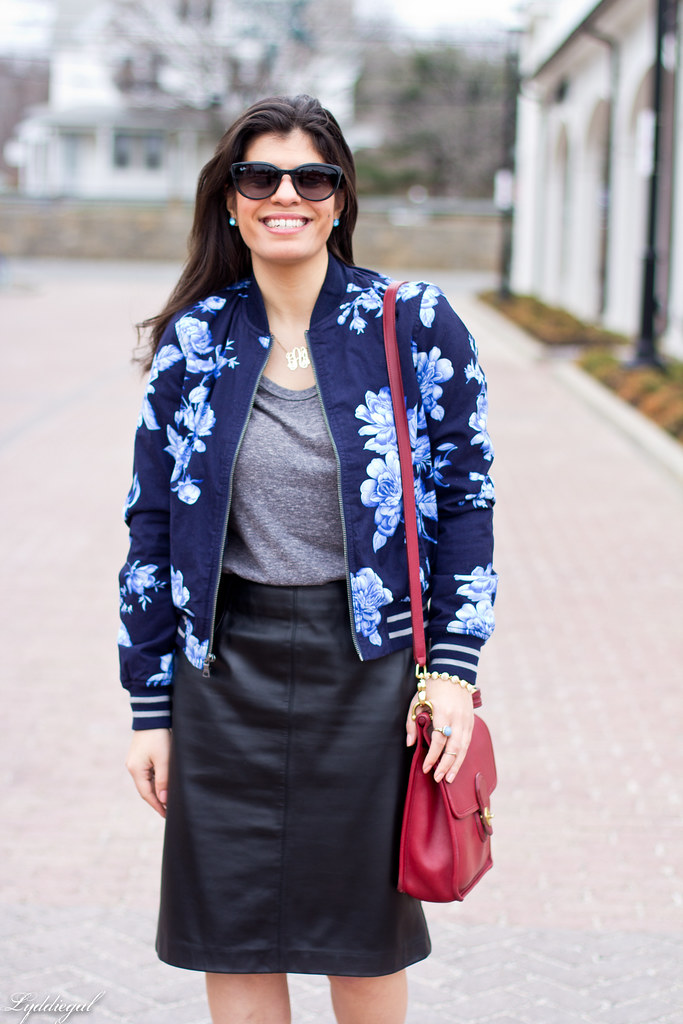 floral bomber, leather pencil skirt-2.jpg