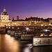 Pont des Arts and Insitut de France at Night by BOCP