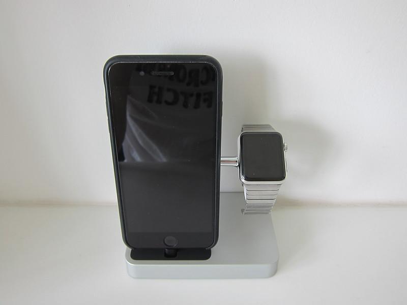 Belkin Valet - Back - With iPhone & Apple Watch
