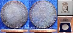 Netherlands Antilles silver 10 gulden 1978 box
