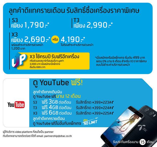 Dtac Phone 4G S3 T3 X3 05