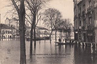 223. Les Inondations a Nantes (Février 1904). Quais des Tanneurs et Duquesne (February 1904)