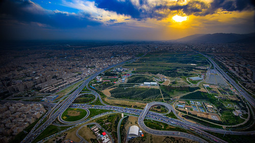 miladtower burjemilad tehran sunset observationdeck tower traffic