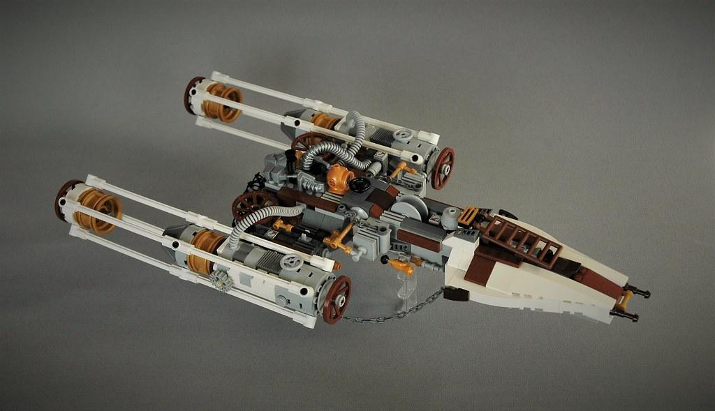 Steampunk Y-wing (custom built Lego model)