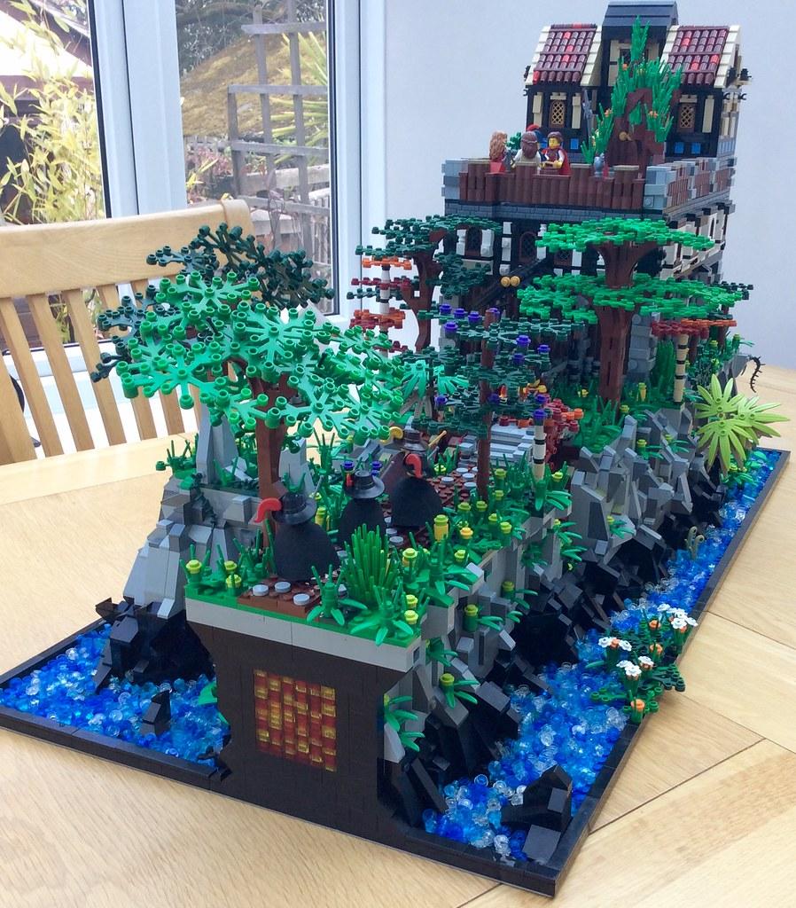 Lego mountain hideaway (custom built Lego model)