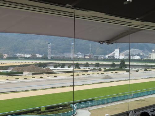 小倉競馬場の3階A指定席の眺め