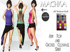 ~ϻ:Amy Top and Cross Cleavage Skirt 20-Texture Hud