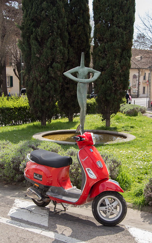 scooters and modern art