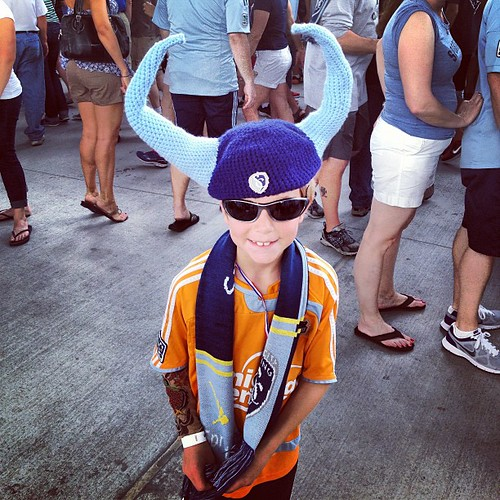 Sporting fans vandalized my child #dynamo #sportingkc #MLS