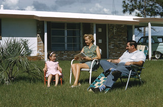 Family in front of their home: Venice East, Florida