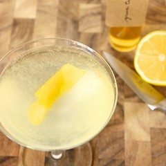 Vodka Martini with Green Tea Simple Syrup