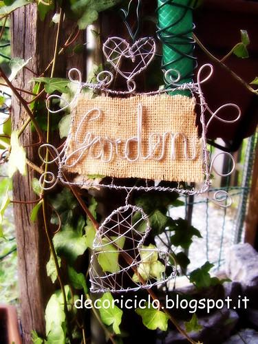targhetta garden con effetto