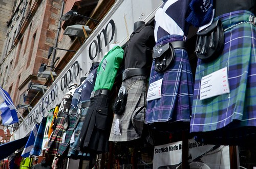 Kilts on the Royal Mile