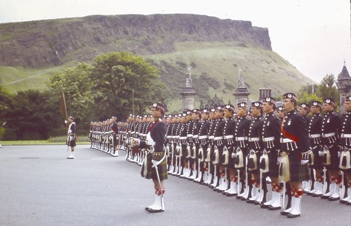 on Parade at holyrood palace  1980/83.