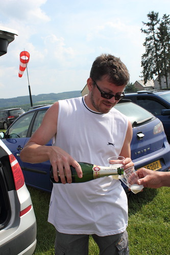 Champagne to celebrate a successful jump