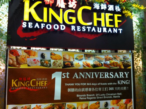 Happy st anniversary to king chef seafood restaurant lucky