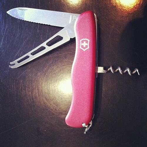 Joli gadget : un couteau #swissarmy pour les amateurs de fromages! #pressevent