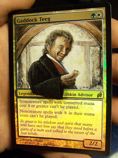 Gaddock Teeg Altered Art Magic alteration lord of the rings