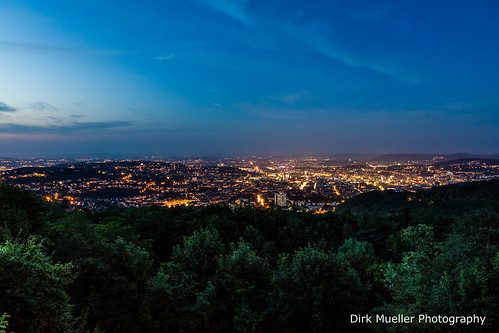 Stuttgart At Night And 36 Degrees by Dirk Mueller Photography