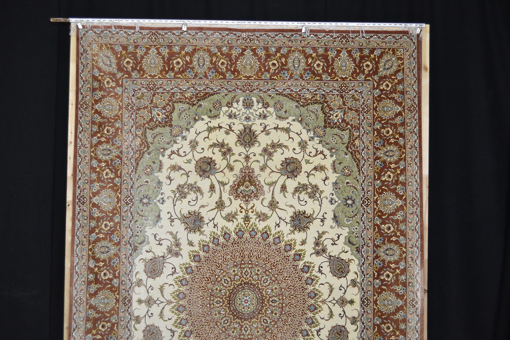 Qum Pure Silk Pardeh Persian Area Rug