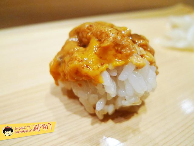 Sushi Bar YASUDA in Tokyo - Hokkaido Uni