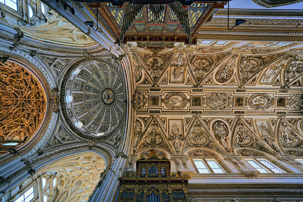 Cordoba Cathedral Ceiling Spain