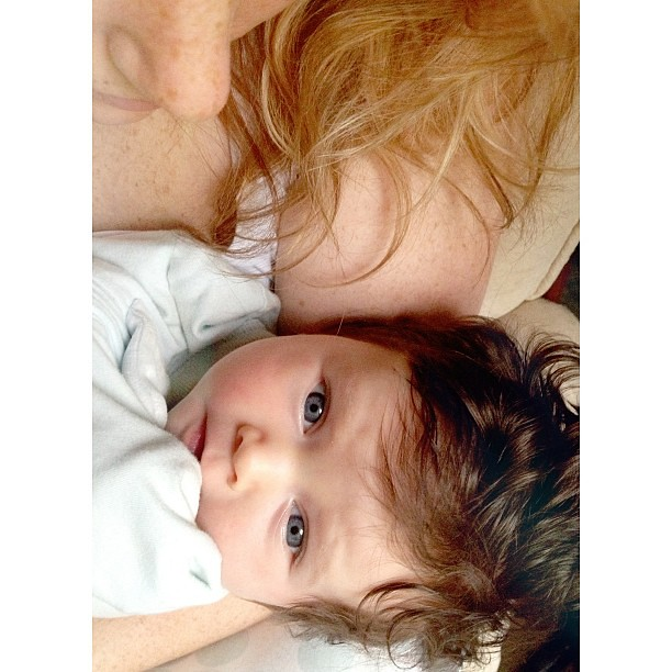 Bed head for mama, bed head for Miri. #mirijoy