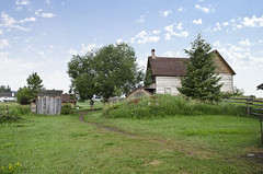 looking SW from blacksmith shop at house - Tinsley Living Farm - Museum of the Rockies - 2013-07-08