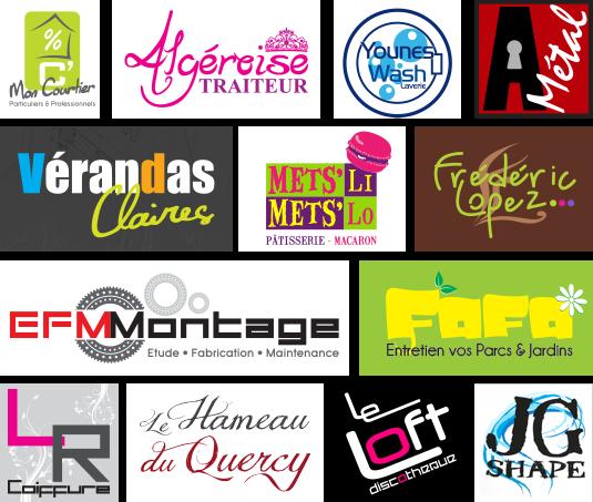 Découvrez diverses créations de logotypes pour plusieurs professionnels.