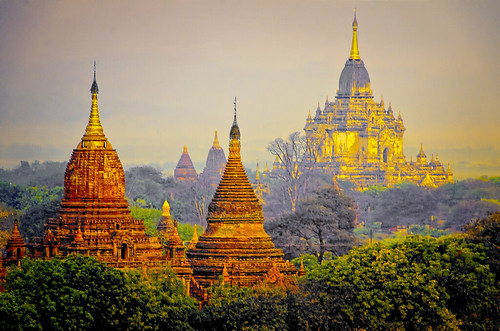 mist texture sunrise pagoda burma getty myanmar bagan faa stupas