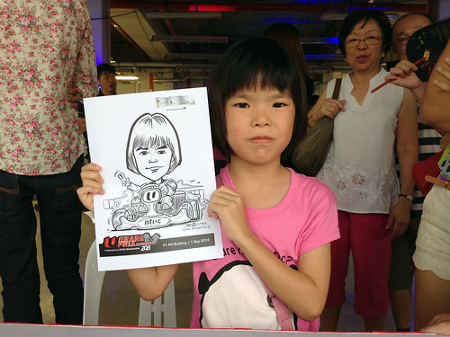 caricature live sketching for NTUC U Grand Prix Experience 2013 - 15