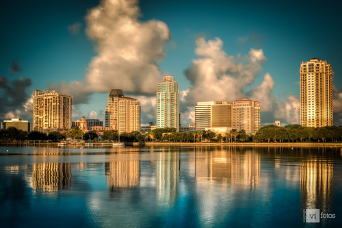 morning blue light detail reflection sunshine skyline clouds sunrise buildings stpetersburg landscape outside outdoors nikon marine colorful downtown day cityscape tampabay florida 28mm scenic daytime hdr beachscape pinellascounty nikonflickraward