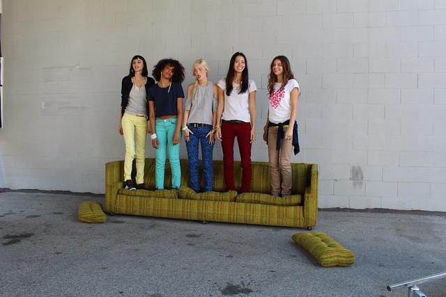 Adidas Neo Alexa Reynen Chloe Blanchard Kalysse Anthony Shannon O'Connor Margaux Brooke fall campaign shoot Los Angeles lisforlois