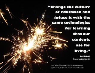 "Educational Postcard:   ""Change the culture of education..."""