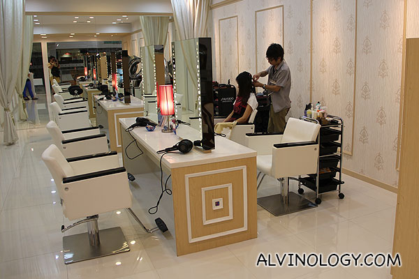 Inside the salon