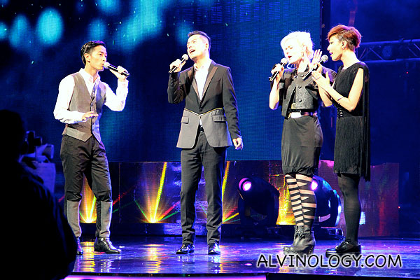 Four singers from The Voices of the Stars