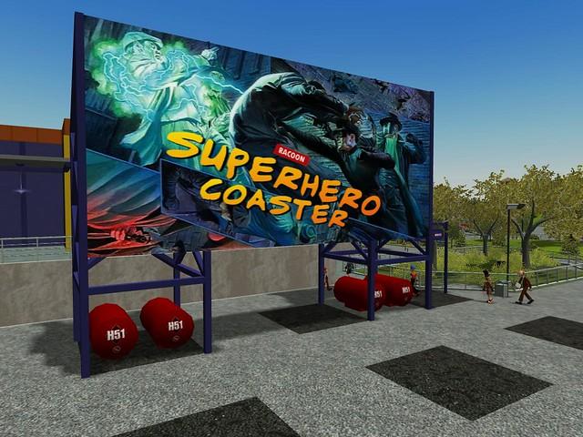 Miramar Studios Park - Racoon's Superhero Coaster