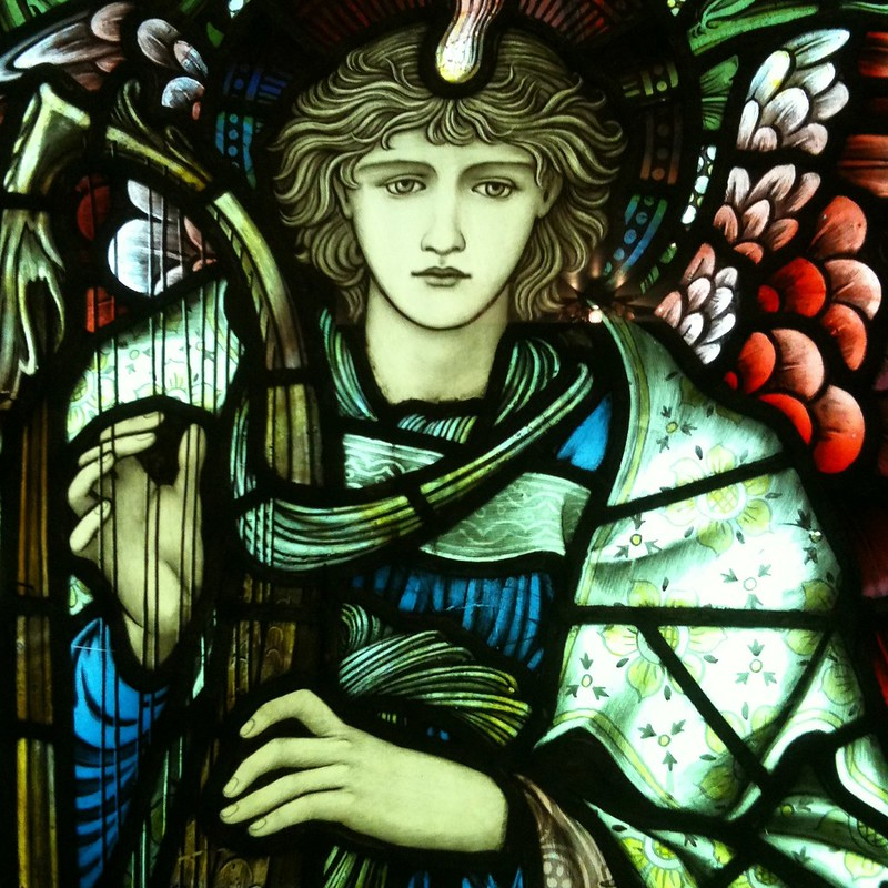Praising Angel, by Edward Burne-Jones