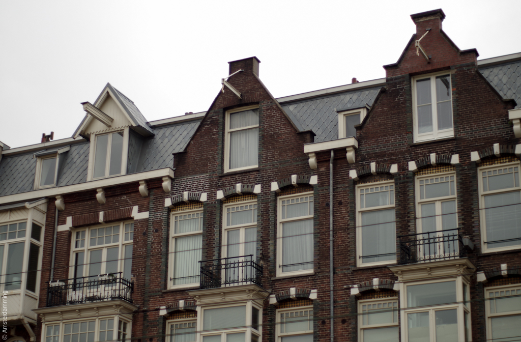 Amsterdam, Houses on Overtoom