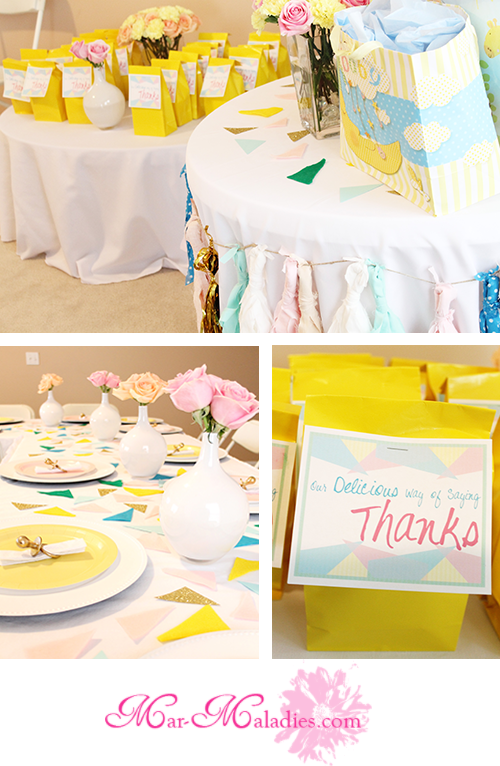 Party Reveal: Golden Power of Pastels Baby Shower