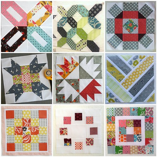 Pinterest Sampler Blocks 1-9 by simple girl, simple life