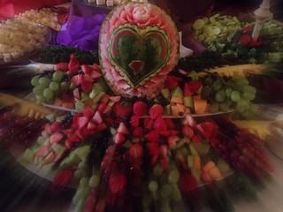 The wedding Fruit plater!