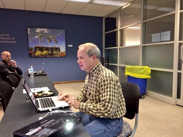 Rockford Director of IT Glenn Trommels demoing Rockford's data portal